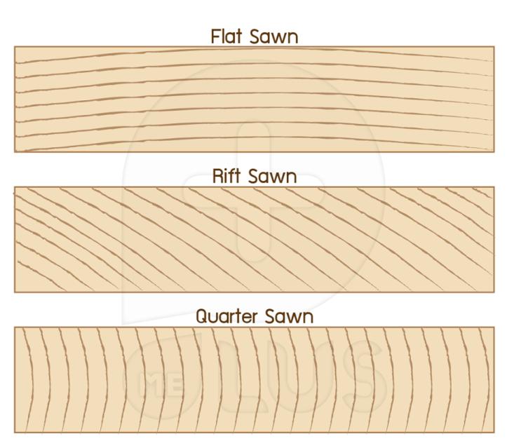 การแบ่งประเภทไม้แปรรูป โดยการดูจาก End Grain หรือด้านตัดขวางของไม้